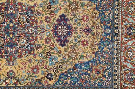 طرح و نقشه قالی گل ابریشم ایرانی
